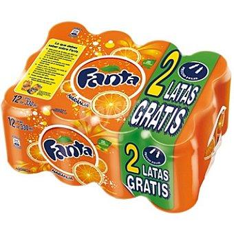 Fanta Refresco naranja Pack ahorro 12 lata 33 cl