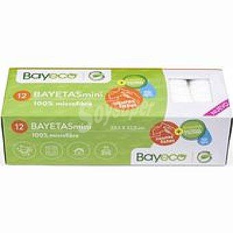 Bayeco Bayeta mini microfibra 100% caja 12 unid.