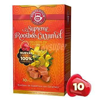 Pompadour Infusión Rooibos con Caramelo cápsulas 10 ud