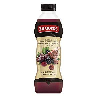 ZUMOSOL zumo de uvas, frambuesas, moras y granadas exprimidas  botella 850 ml