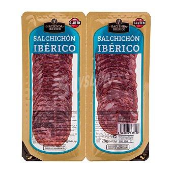 La hacienda del Ibérico Salchichon iberico lonchas Pack 2 x 62.5 g - 125 g