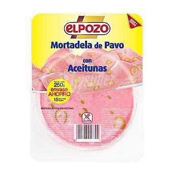 ElPozo Mortadela de pavo con aceiturnas Bandeja 250 g