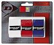 Overgrip modelo Tour Dry o Tour Pro para palas de pádel pack de 3 unidades Dunlop