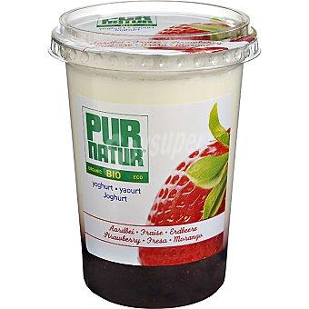 Pur Natur Yogur con fresa ecológico Tarrina 500 g