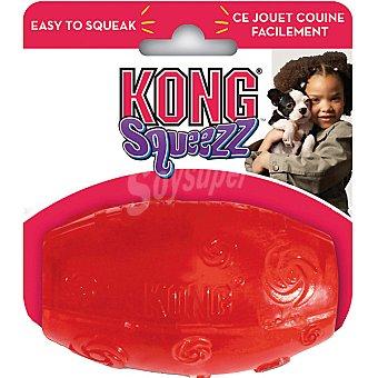 KONG SQUEEZZ Juguete Kong modelo Football de caucho colores surtidos talla L medida 15 cm 1 unidad