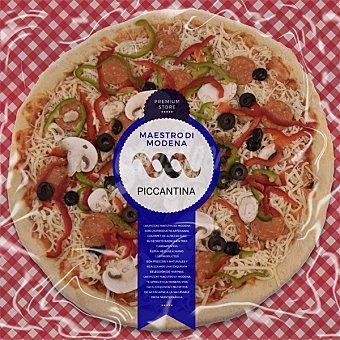 Maestro modena Piccantina Premium familiar pizza de pepperoni pimientos y aceitunas  envase 570 g