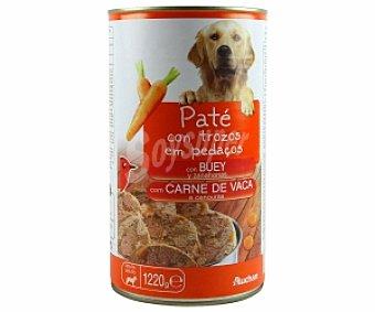 Auchan Comida Húmeda para Perro. Paté de Buey Lata de 1220 Gramos