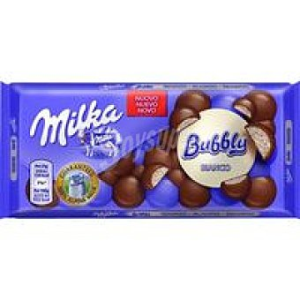 Milka Chocolate Bubbly blanco Tableta 100 g