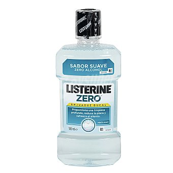 Listerine Enjuague bucal Zero menta suave Frasco 500 ml