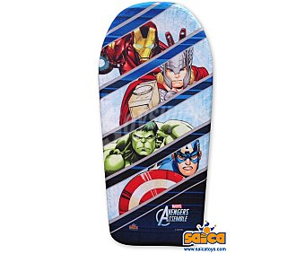 Marvel Tabla de body board recubieta de PVC de 104 centímetros y con el diseño de tus personajes favoritos de la película Los Vengadores 1 unidad