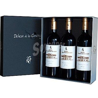 Dehesa de los Canónigos Vino tinto crianza D.O. Ribera del Duero Estuche Lujo 3 botellas 75 cl
