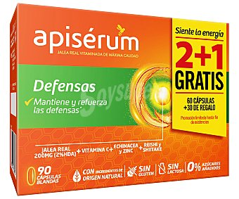 Apiserum Complemento nutricional a base de jalea real vitaminada defensas 90 uds