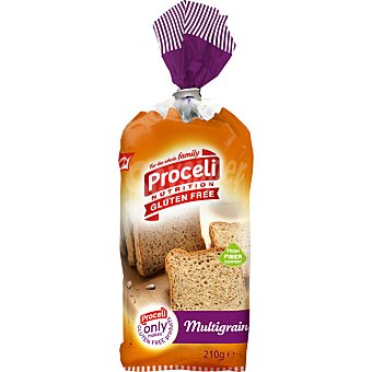 PROCELI Multigrain pan de molde sin gluten Envase 210 g