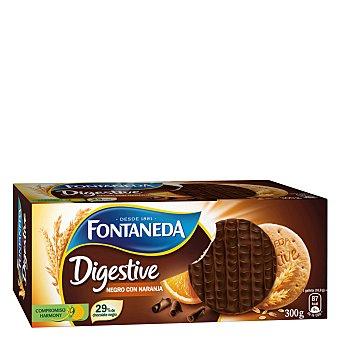 Fontaneda Galleta Digestive chocolate negro con naranja 300 Gramos
