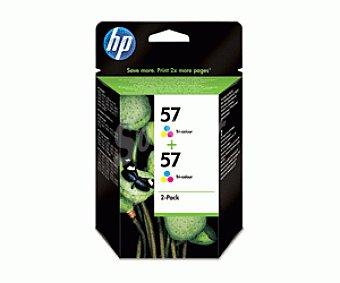 HP Cartuchos de Tinta N57 Tricolor 2u