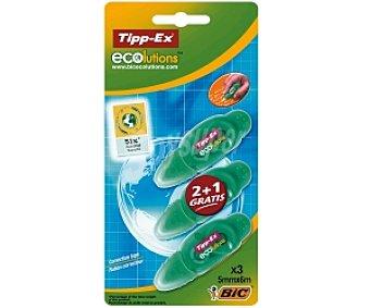 Tipp-Ex Cinta Correctora 2+1 Ecolutions 3u