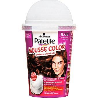 Schwarzkopf Palette tinte nº 6.68 Castaño Rojizo coloración Mousse Color permanente con brillo intenso Envase 1 unidad