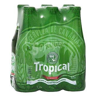 Tropical Cerveza rubia nacional Pilsen 4,7º Pack 6 botellas 25 cl