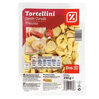 DIA Tortellini jamón curado Envase 250 gr