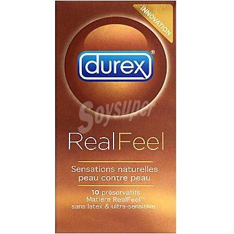 Durex Preservativo extra sensitivo real feel Paquete 10 u