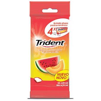 Trident Chicle sabor melón-sandia 4x14,5 g