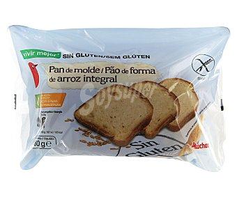 Auchan Pan de molde de arroz integral sin gluten (controlado por face) 480 gr