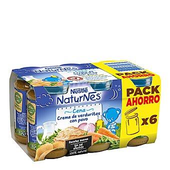 Nestlé Tarritos de puré de verduras y pavo Pack 6x200 g