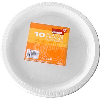 Aliada Plato blanco grande 25 cm Paquete 10 unidades