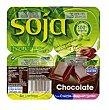 Postre soja chocolate Pack 4 x 100 g - 400 g Hacendado