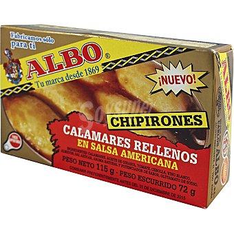 Albo Chipirones rellenos en salsa americana Lata 72 g neto escurrido
