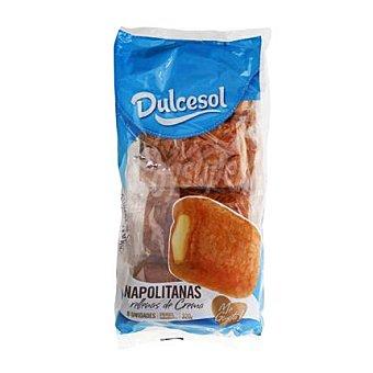 Dulcesol Napolitana de crema 8 unid