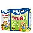 Leche 3 de crecimiento con cereales con fruta líquida Peques 3 Pack 3x200 ml Puleva