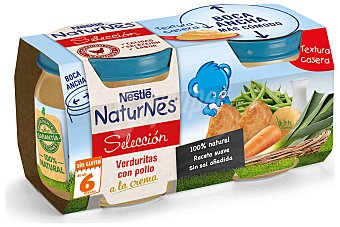Nestlé Naturnes Selección Puré de Verduras con Tarro Pack2x200 gr