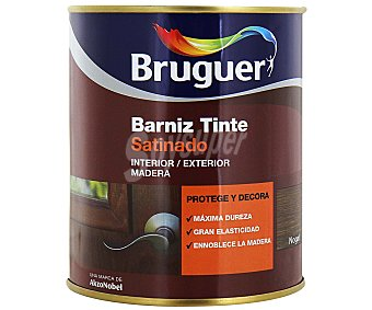 BRUGUER Barniz para muebles con tinte de color nogal y acabado satinado 0,75 litros