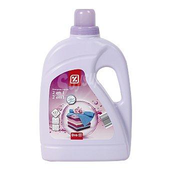 DIA Detergente máquina líquido con suavizante 2 en 1 botella 2 lt