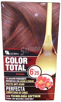 AZALEA Tinte coloración permanente color total n 6.25 avellana (enriquecido con aceite argán y tsubaki) u