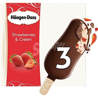 Häagen-Dazs Bombon helado de chocolate y fresas con crema estuche 240 ml 3x80 ml
