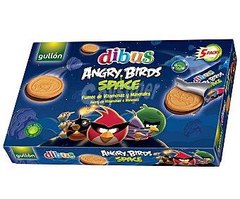 GULLÓN Galletas Sandwich (rellena de crema sabor chocolate) Dibus Angry Birds 315 Gramos