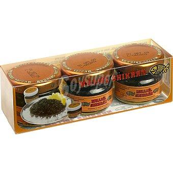 Eurocaviar Mujjól Shikrán Huevas de Mujjól y Arenque (Sucedáneo del Caviar) Pack 3 tarro 28 g