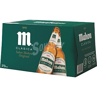 MAHOU CLASICA cerveza rubia nacional  pack 24 botellas 25 cl