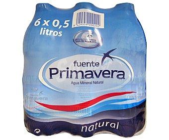 Fuente Primavera Agua mineral Botella de 50 centilitros pack de 6