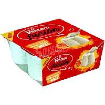 El Ventero Queso fresco con miel Pack 4 x 60 g