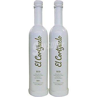 EL CORTIJUELO aceite de oliva virgen extra Picual Ecológico D.O. Sierra Magina  estuche 2 botellas 500 ml