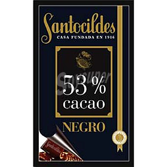 Santocildes Chocolate negro 53% cacao Tableta 200 g