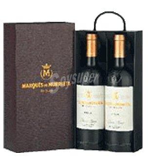 Marqués de Murrieta Estuche piel con 2 botellas de vino d.o.ca. Rioja 75 cl