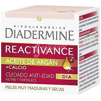 Diadermine Reactivance cuidado anti-edad dia con aceite de Argan y calcio tarro 50 ml nutre y fortalece para pieles muy maduras y secas Tarro 50 ml