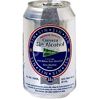 El Corte Inglés Cerveza sin alcohol Lata 33 cl