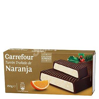 Carrefour Turrón trufado de naranja 250 g