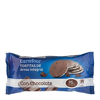 Carrefour Tortita de arroz integral bañada con chocolate 130 g