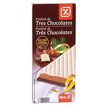 DIA Praliné de tres chocolates Estuche 200 gr